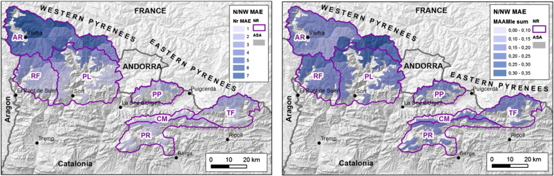 Characterizing major avalanche episodes in space and time in ... on