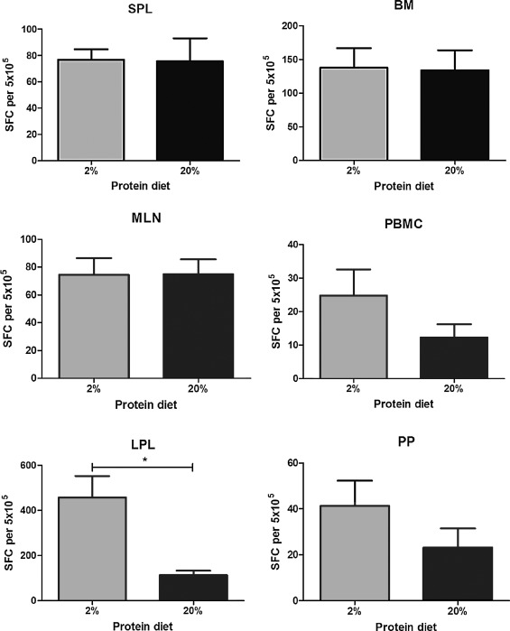 Protein energy malnutrition alters mucosal IgA responses and
