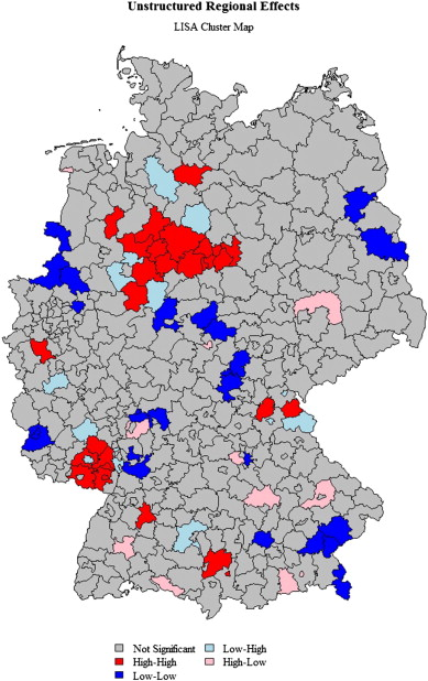 Examining the structure of spatial health effects in Germany ...