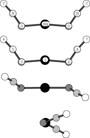 The Optimum Structure Of Mercury Fulminate Molecule (C2N2O2Hg), In Its  Ground State.