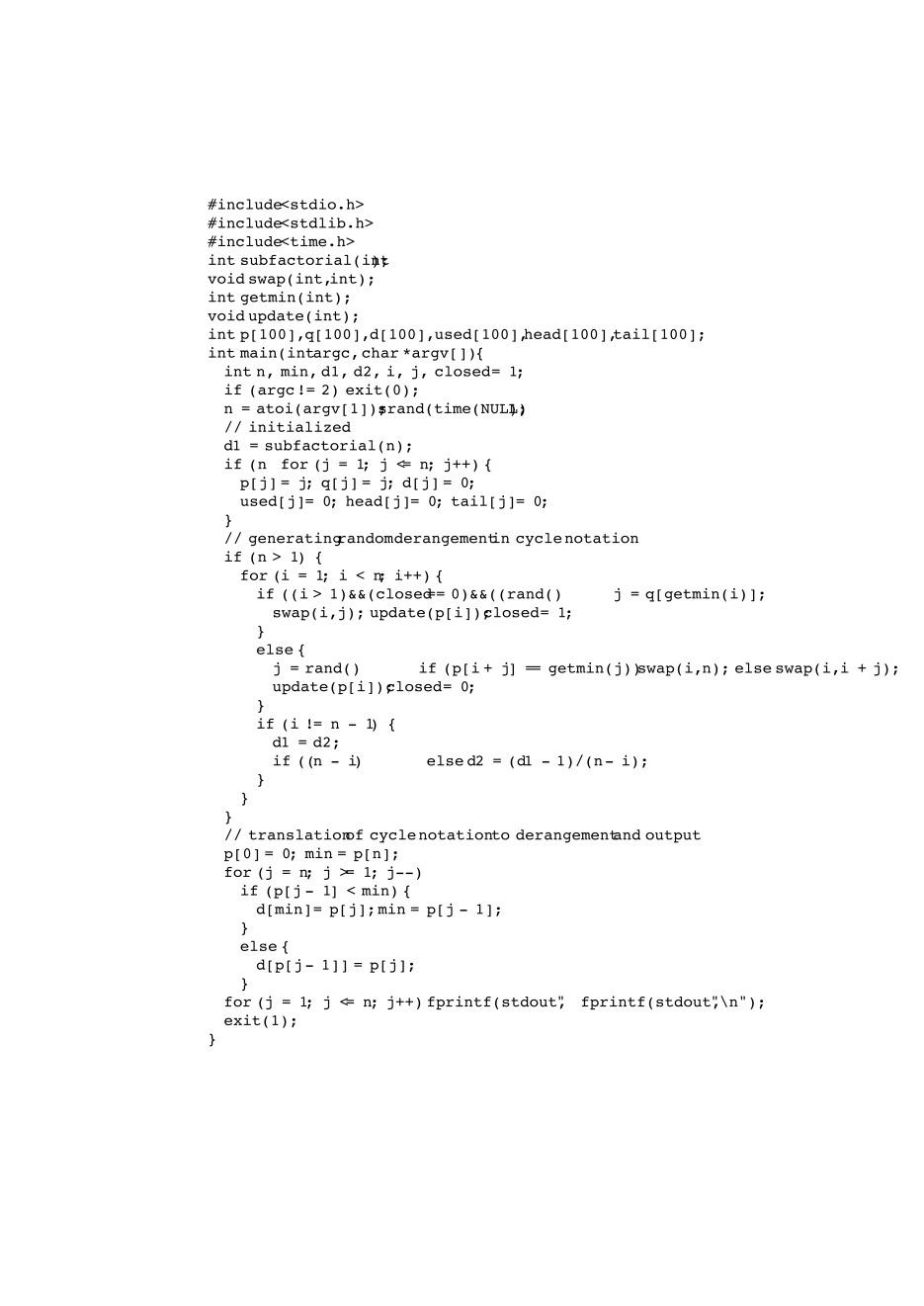 Linear-time generation of uniform random derangements