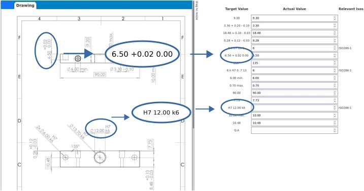 Extraction of dimension requirements from engineering drawings for ...
