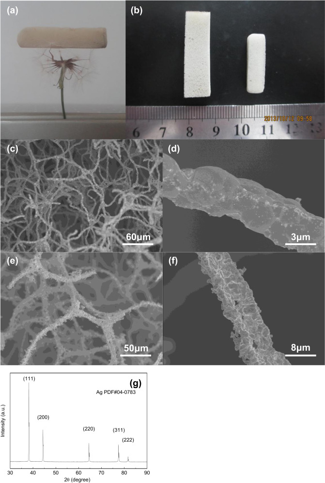 A novel method for synthesizing ultralight silver foams by