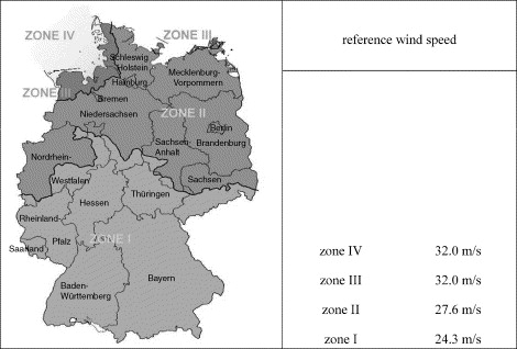 A New Wind Zone Map Of Germany ScienceDirect - Germany map zones