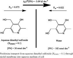 Influence of aqueous dimethyl sulfoxide on pyridoxine