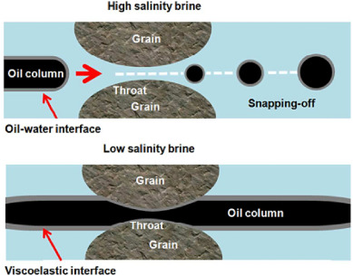 Wettability alteration in carbonate and sandstone rocks due