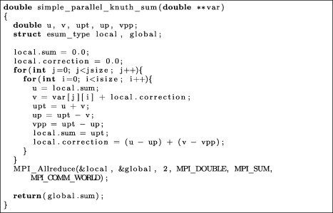 In search of numerical consistency in parallel programming