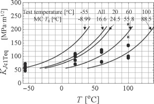 Failure of the ASTM E 1921 master curve to characterize the
