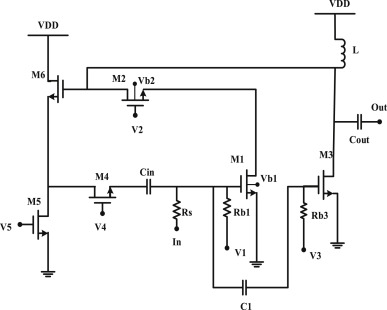 Low power active shunt feedback CMOS low noise amplifier for