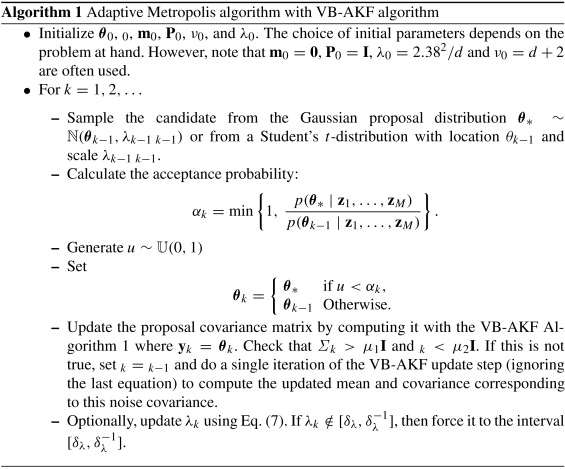 Adaptive Metropolis algorithm using variational Bayesian adaptive