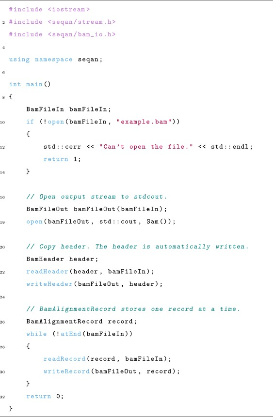 The SeqAn C++ template library for efficient sequence