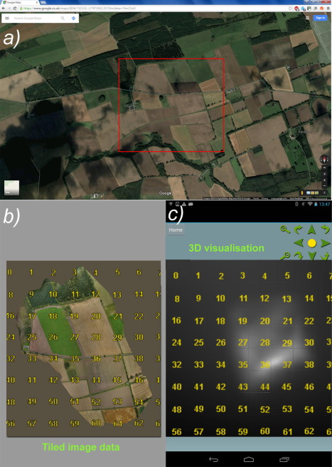 Streaming and 3D mapping of AGRI-data on mobile devices