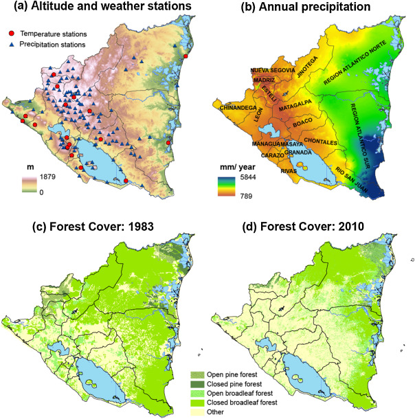 Historical Climate Trends Deforestation And Maize And Bean - Nicaragua map download