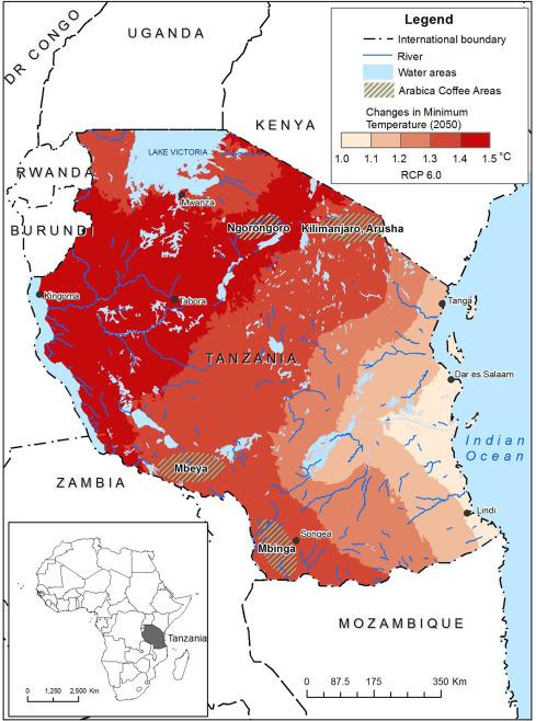 Coffea Arabica Yields Decline In Tanzania Due To Climate Change - Tanzania map download