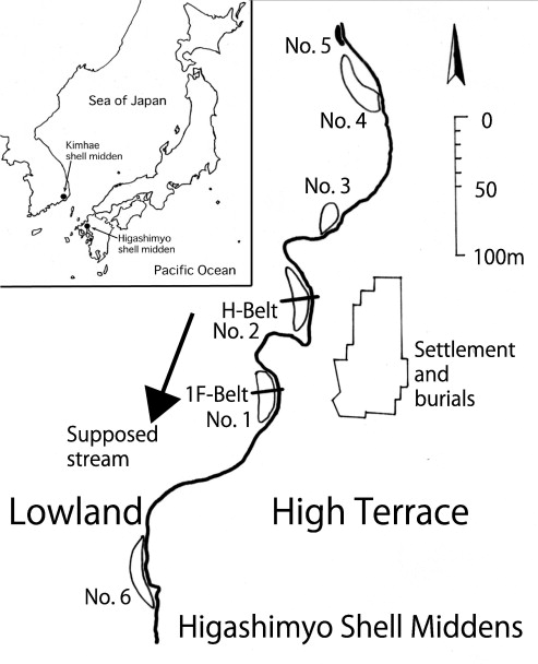 Time Range For Accumulation Of Shell Middens From Higashimyo