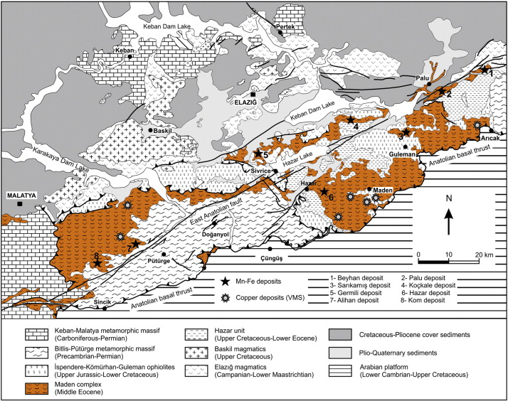 Geology and geochemistry of Middle Eocene Maden complex