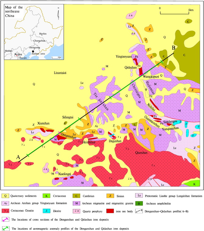 A Study Of Iron Deposits In The Anshan Area China Based On - Anshan map