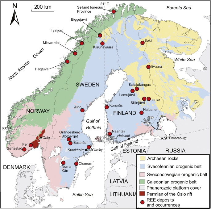 Europes rare earth element resource potential an overview of ree simplified geological map of the scandinavian countries showing the main ree deposits and occurrences base geological map after eilu 2012 gumiabroncs Images