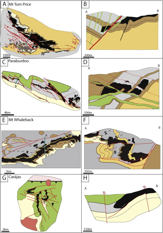 BIFhosted Iron Mineral System A Review ScienceDirect - Iron mines in us sw panhandle maps