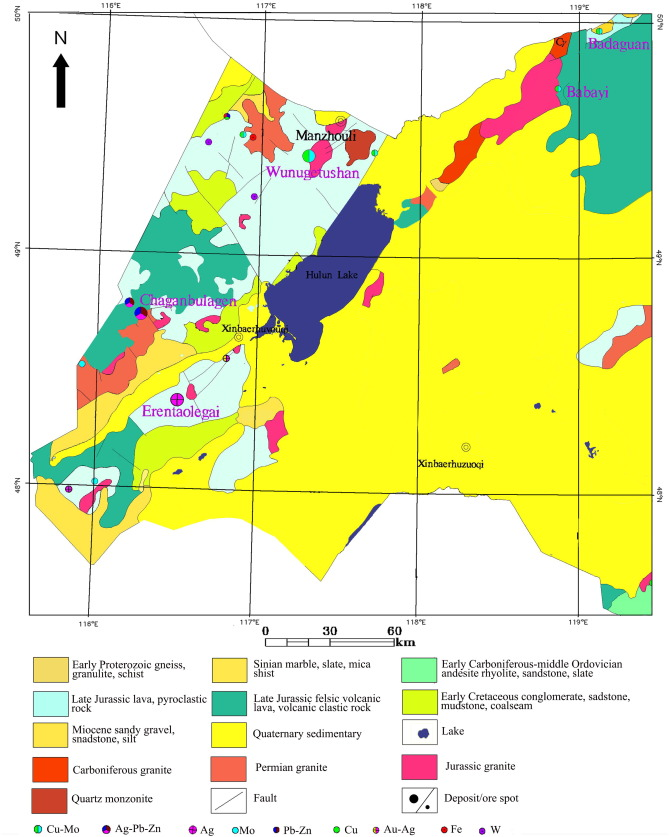 Regional Mineral Resources Assessment Based On Rasterized - Manzhouli map