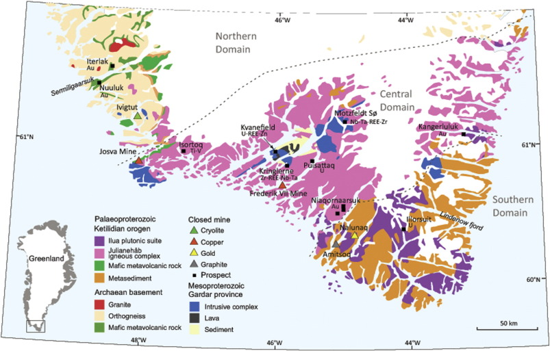 Metallogeny Of South Greenland A Review Of Geological Evolution