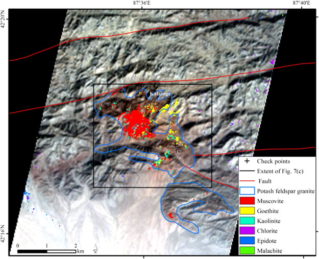Mineral mapping and ore prospecting using Landsat TM and Hyperion