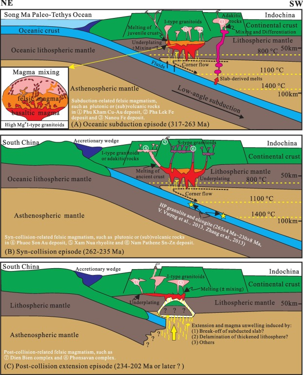 Carboniferous-Triassic felsic igneous rocks and typical