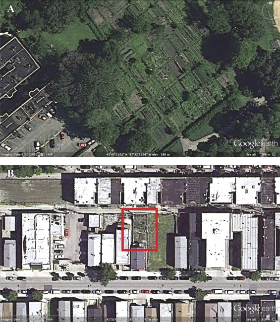 Mapping public and private spaces of urban agriculture in Chicago