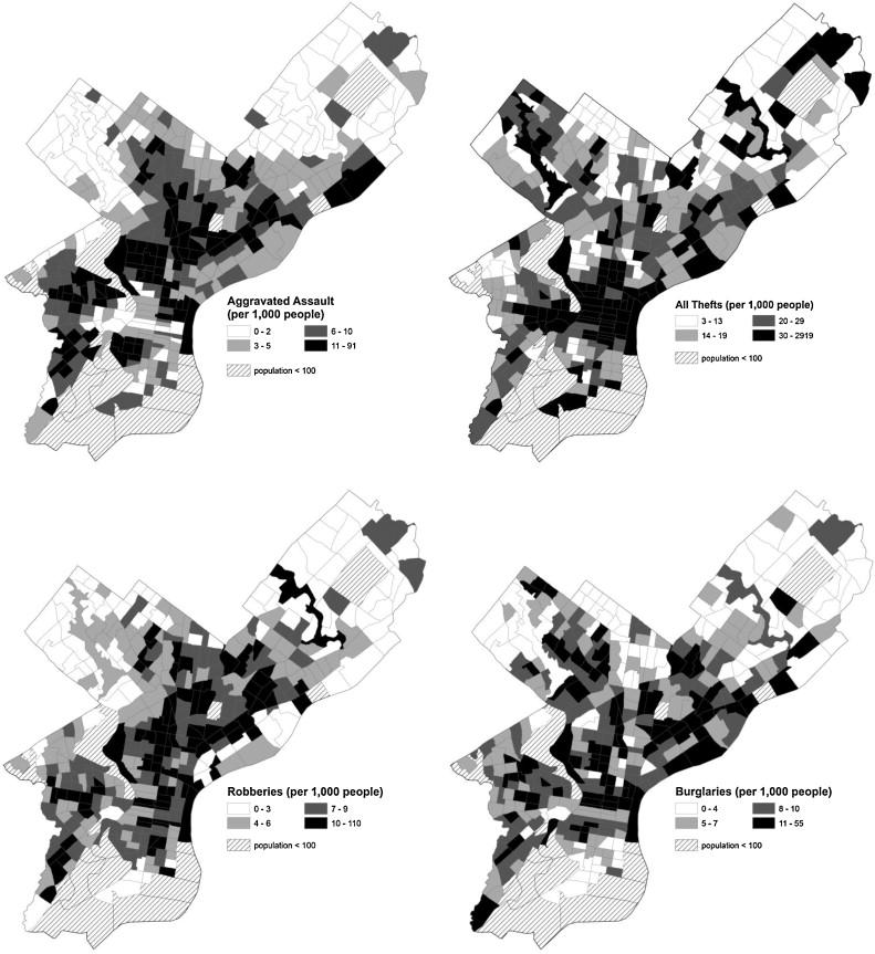 Does vegetation encourage or suppress urban crime? Evidence