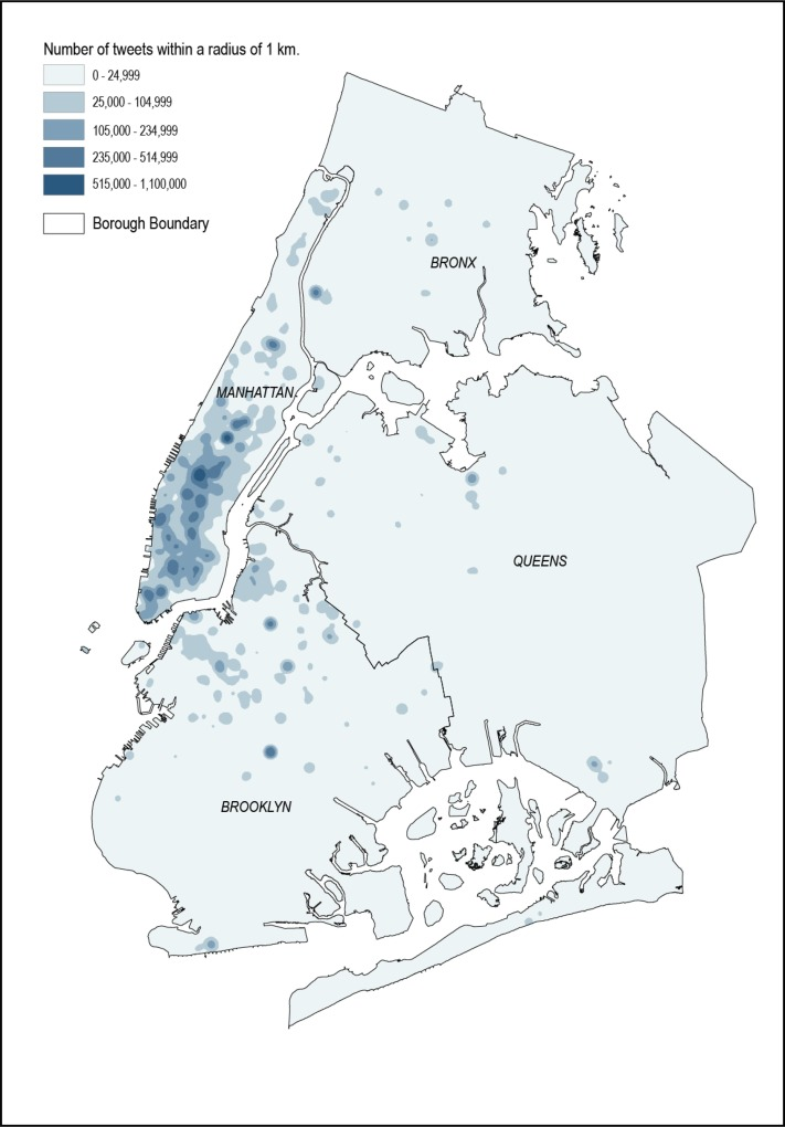 Twitter sentiment in New York City parks as measure of well