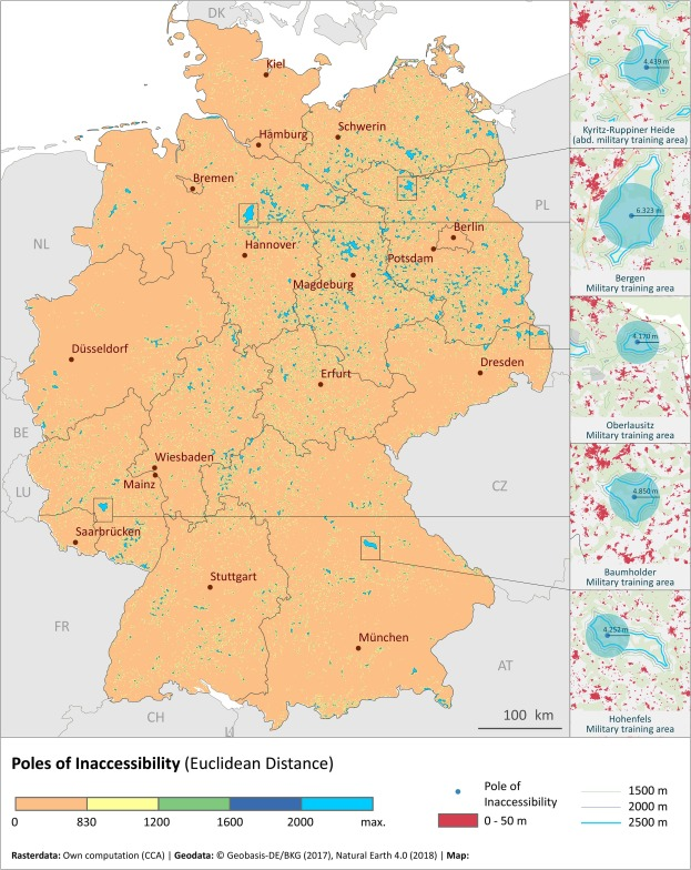Map Of Germany 2000.Settlement Percolation A Study Of Building Connectivity And Poles