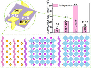 Self-limited ion-exchange grown Bi6Fe2Ti3O18-BiOBr ferroelectric