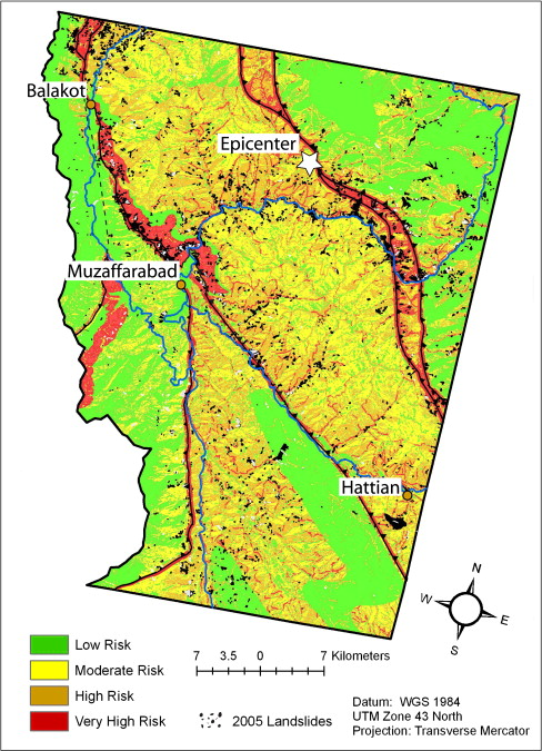Gis based landslide susceptibility mapping for the 2005 kashmir landslide susceptibility map of our 2005 kashmir earthquake study area two thirds of the study area has a low or moderate susceptibility to future publicscrutiny Image collections