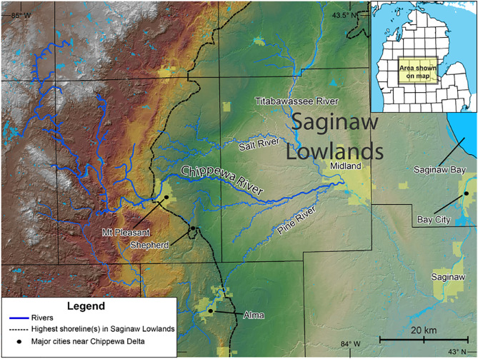 Geomorphology of the Chippewa River delta of Glacial Lake
