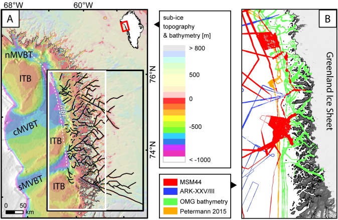 Bedrock morphology reveals drainage network in northeast