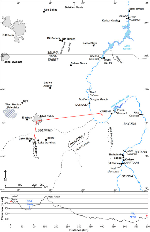 Carbonates as evidence for groundwater discharge to the Nile