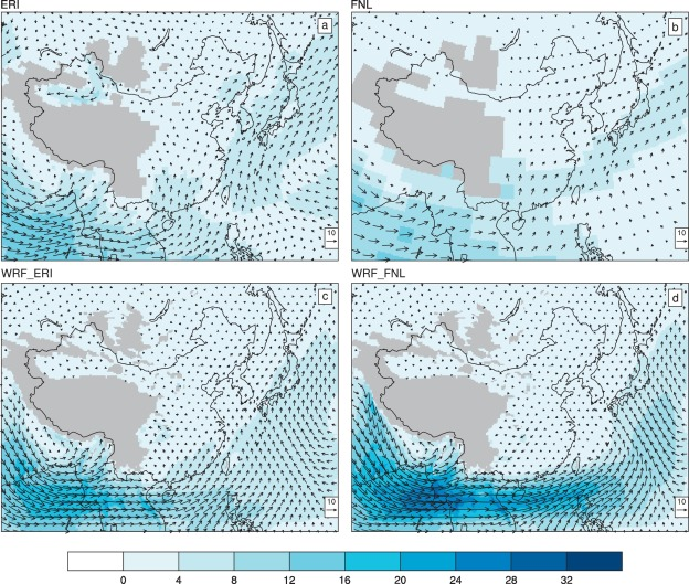 Impact of different reanalysis data on WRF dynamical