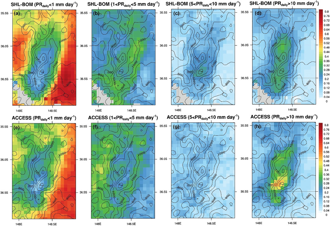 Evaluation of wintertime precipitation forecasts over the