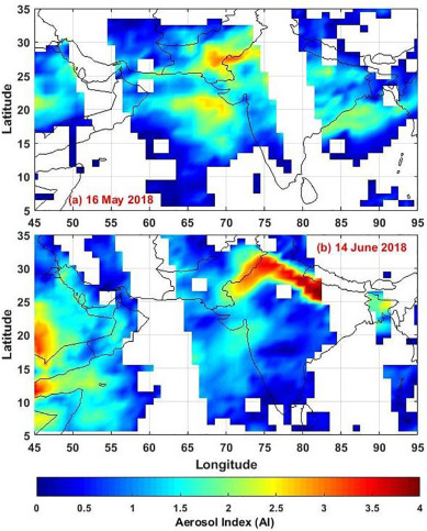 Assessment of two intense dust storm characteristics over Indo