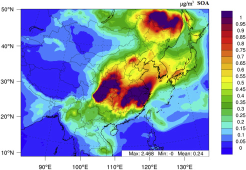 Estimation of biogenic VOC emissions and their corresponding