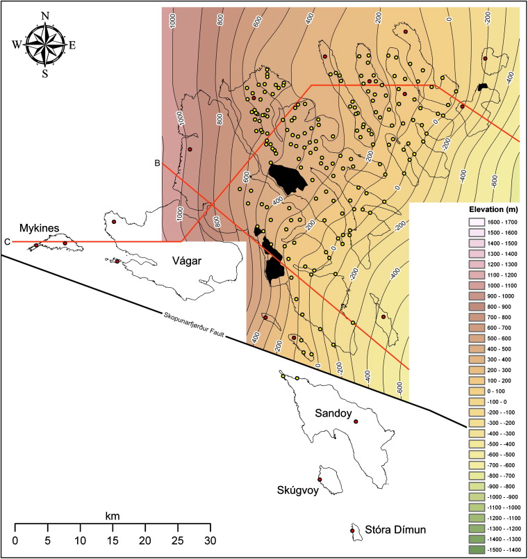 Surface Interpolation Within A Continental Flood Basalt Province