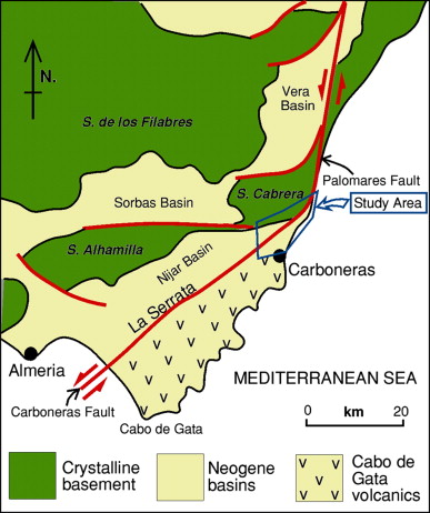 Geological Map Of Spain.Structure And Geological History Of The Carboneras Fault Zone Se