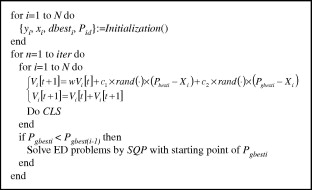 A hybrid CPSO–SQP method for economic dispatch considering the valve on