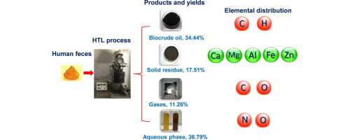 Simultaneous production of biocrude oil and recovery of
