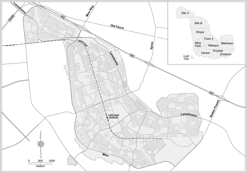 Cape Towns million plus black township of Khayelitsha Terrae