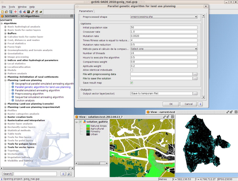 High performance genetic algorithm for land use planning
