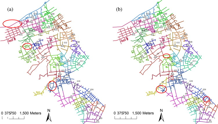 Weighted network Voronoi Diagrams for local spatial analysis