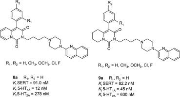 新的4-芳基 - 吡啶并双SSRI和5-HT1A活性[1,2-C]嘧啶。第5部分
