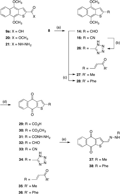 Oxadiazole-substituted naphtho[2,3-b]thiophene-4,9-diones as potent
