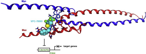 Computer-aided drug discovery of Myc-Max inhibitors as